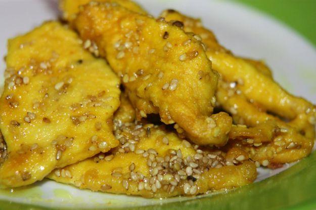 pollo speziato ai semi di sesamo