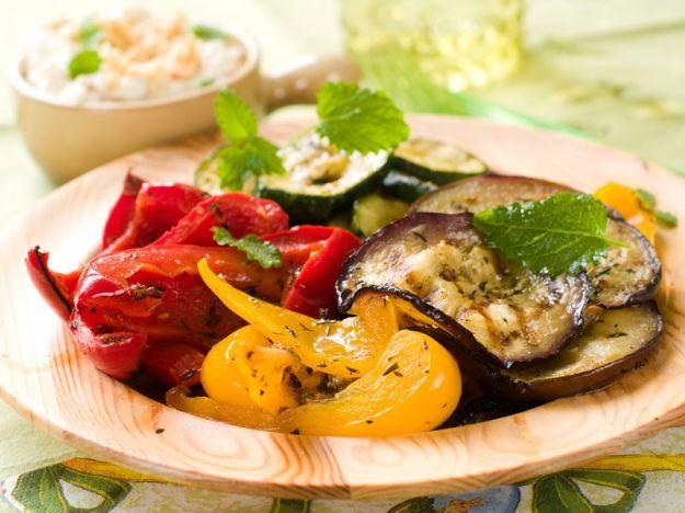 verdure grigliate menta
