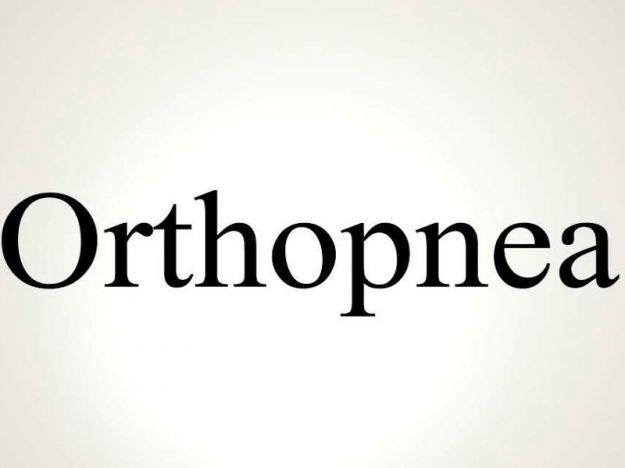 Ortopnea
