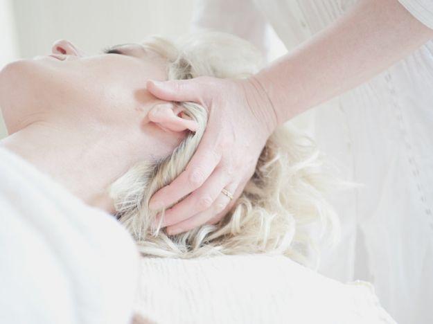 Collo massaggio