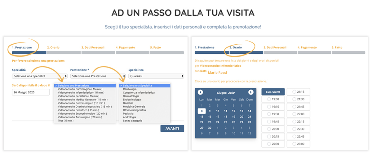 screenshot step accessi visitamy