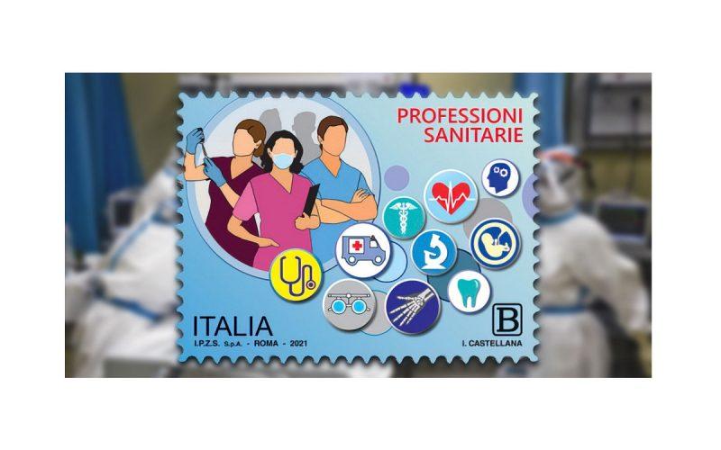 francobollo dedicato alle professioni sanitarie